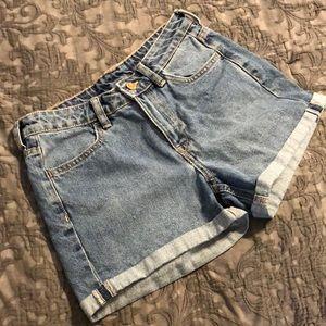 &Denim shorts